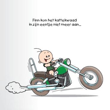 Geboortekaart motor jongen broertje 1f eenluik