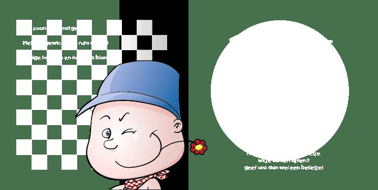 Geboortekaart geboortekaartje boer-bont-2i tweeluik