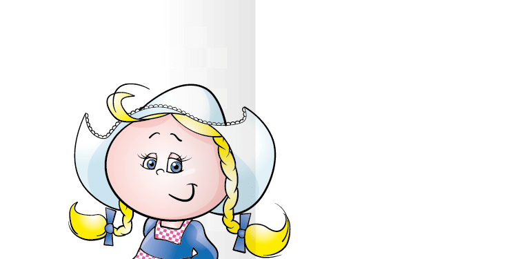 Geboortekaart geboortekaartje boerin bont-n2i tweeluik