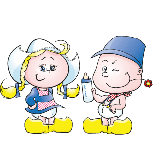 Baby boertje en Baby boerinnetje