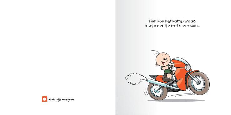 Geboortekaart race motor jongen broertje 2o tweeluik