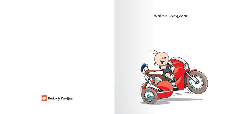 Geboortekaart race motor jongen echte man 2o tweeluik