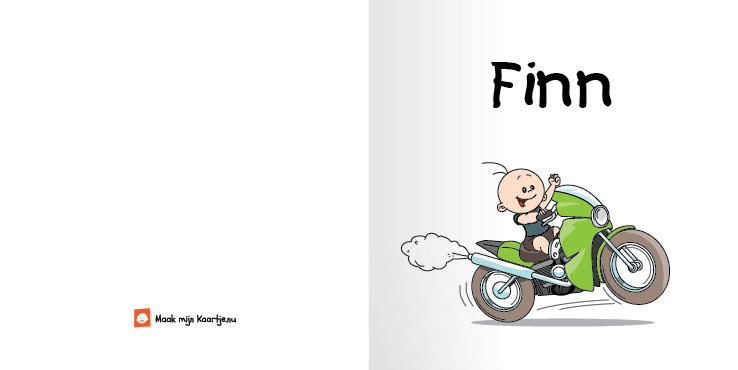 Geboortekaart race motor jongen stinkerd 2o tweeluik